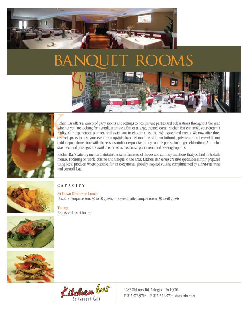 Menu - Kitchen Bar